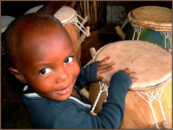 Photograph - Drummer Boy Ghana by Wayne King