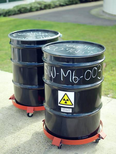 Wall Art - Photograph - Drums Of Toxic Waste by Andrew Brookes, National Physical Laboratory/ Science Photo Library
