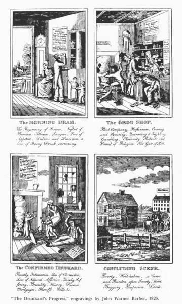 Temperance Movement Photograph - Drunkards Progress, 1826 by Granger