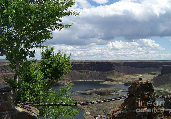 Photograph - Dry Falls Overlook by Charles Robinson