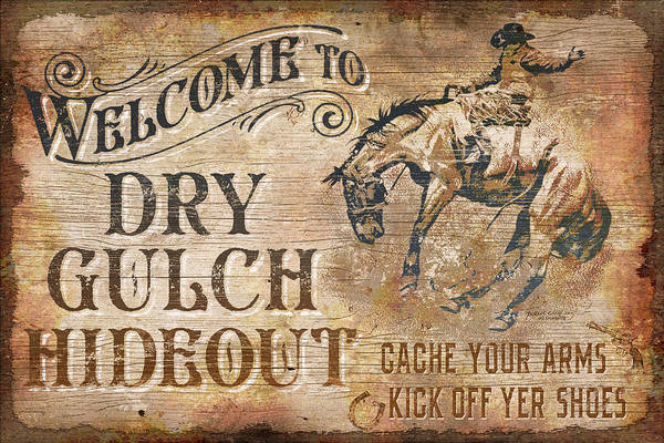 Saddle Wall Art - Painting - Dry Gulch Hideout by JQ Licensing