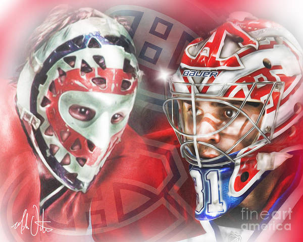 Canadiens Painting - Dryden/price by Mike Oulton