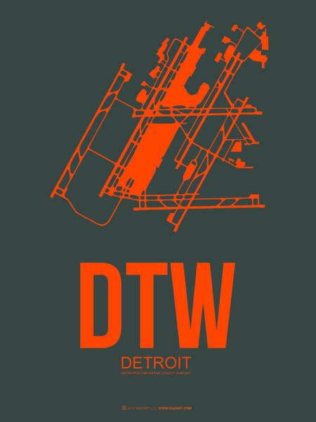 Detroit Wall Art - Digital Art - Dtw Detroit Airport Poster 3 by Naxart Studio