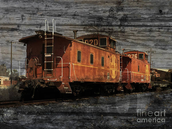 Red Caboose Photograph - Dual Cabooses by Robert Ball