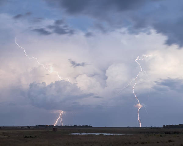 Photograph - Dual Lightning by Rob Graham