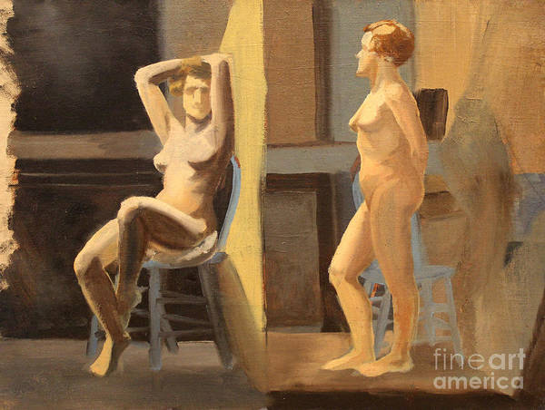 Painting - Dual Nudes  by Art By Tolpo Collection