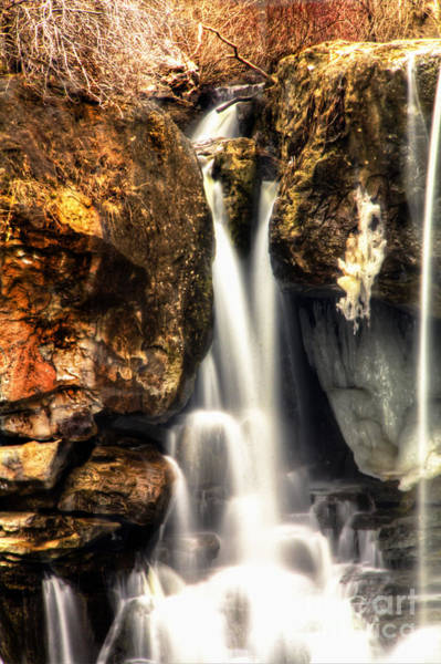Photograph - Dual Waterfalls by Jim Lepard