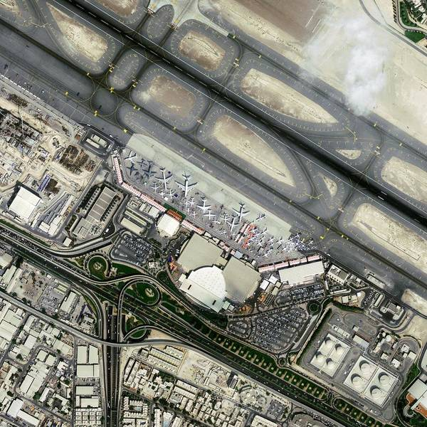 Biennial Photograph - Dubai Airshow by Geoeye/science Photo Library