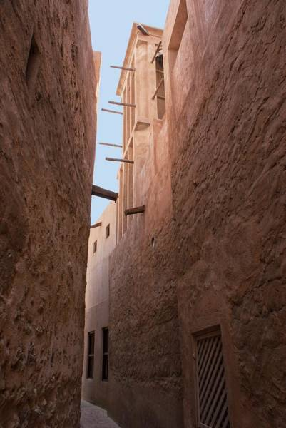 Cooling Tower Photograph - Dubai Alley With Wind Tower. by Mark Williamson