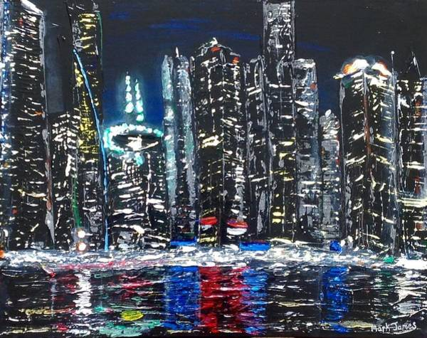 Dubai Marina Painting - Dubai Marina 3 by Mark James