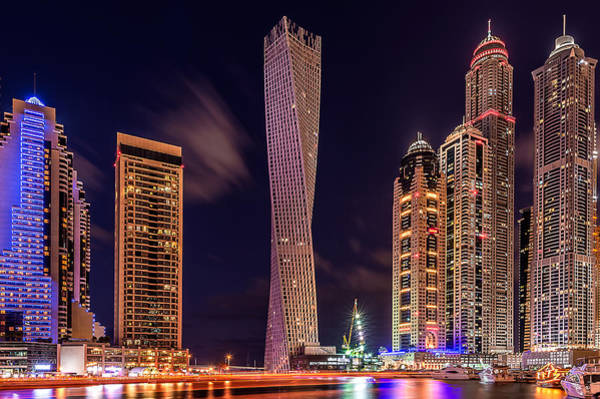 Wall Art - Photograph - Dubai Marina Night Shot by Vinaya Mohan
