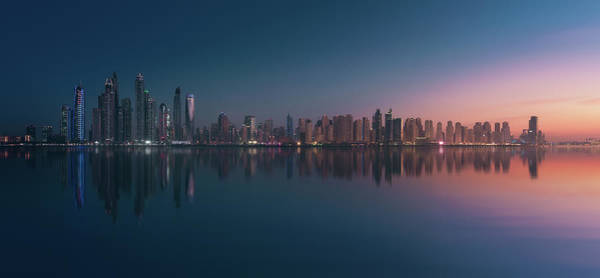 Finance Photograph - Dubai Marina Skyline by Javier De La