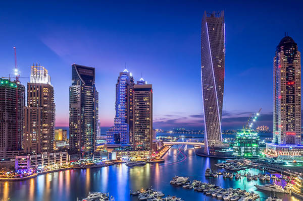 Tall Photograph - Dubai Marina by Vinaya Mohan