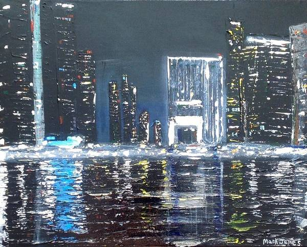 Dubai Marina Painting - Dubai Marine 1 by Mark James