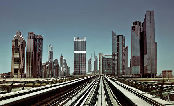 Railroads Photograph - Dubai Metro by Naufal