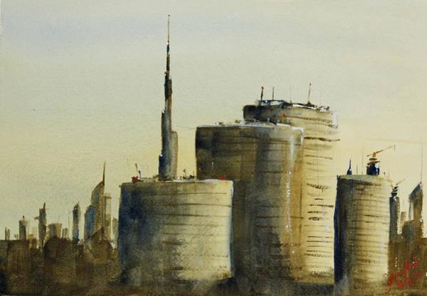 Expo Wall Art - Painting - Dubai - Near Dafza by James Nyika