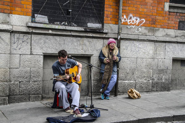 Busker Wall Art - Photograph - Dublin Busker by Bill Cannon
