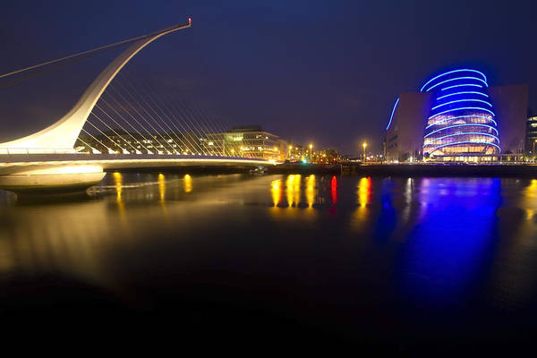 Photograph - Dublin Convention Center And Beckett Bridge by Sven Brogren