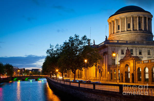River Liffey Wall Art - Photograph - Dublin Four Courts by Inge Johnsson