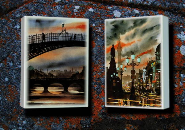 Mixed Media - Dublin Scenes Beta 1 by Val Byrne