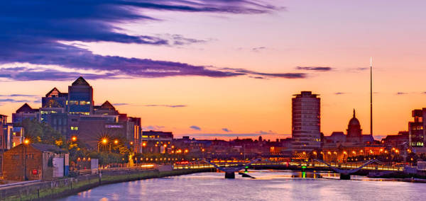 Photograph - Dublin Skyline At Dusk / Dublin by Barry O Carroll