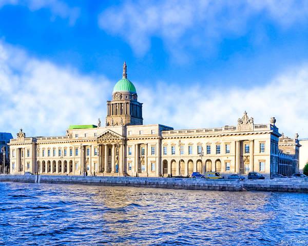 Photograph - Dublin's Custom House Quay by Mark Tisdale