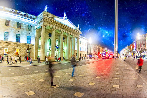 Photograph - Dublin's O'connell Street In Motion by Mark Tisdale