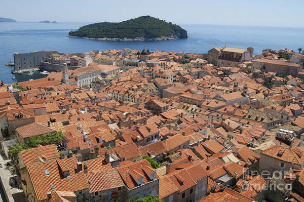 Lokrum Photograph - Dubrovnik And Lokrum Island by David Birchall