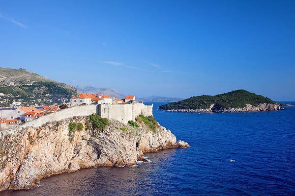 Lokrum Photograph - Dubrovnik And Lokrum Island On Adriatic Sea by Artur Bogacki