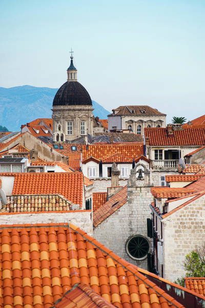 Fortified Wall Art - Photograph - Dubrovnik Cathedral Spire, Seen From by Matthew Williams-ellis / Robertharding