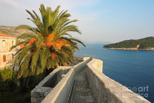 Lokrum Photograph - Dubrovnik Fortress Wall Seaview by Kiril Stanchev