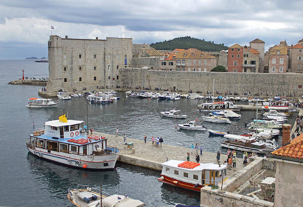 Photograph - Dubrovnik Old Harbour by Tony Murtagh