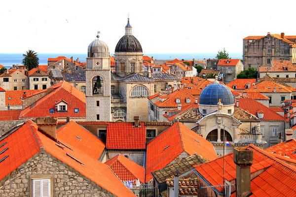 Dubrovnik Photograph - Dubrovnik Rooftops by Saya Studios