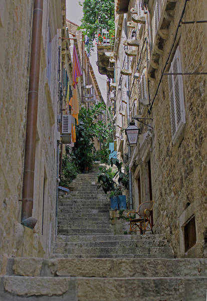 Photograph - Dubrovnik Steps by Tony Murtagh