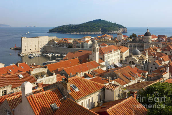 Lokrum Photograph - Dubrovnik Sunny Afternoon Panoramic View With The Harbor by Kiril Stanchev