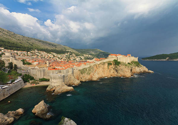 Collin Photograph - Dubrovnik Walls And Old City In Croatia by © Frédéric Collin