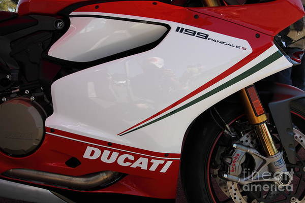 Photograph - Ducati Motorcycle 5d22811 by Wingsdomain Art and Photography