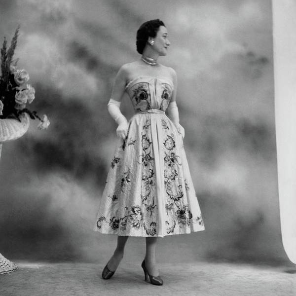 Photograph - Duchess Of Windsor In A Dior Ball Gown by Cecil Beaton