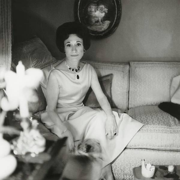 Home Accessories Photograph - Duchess Of Windsor In Her Paris Home by Horst P. Horst