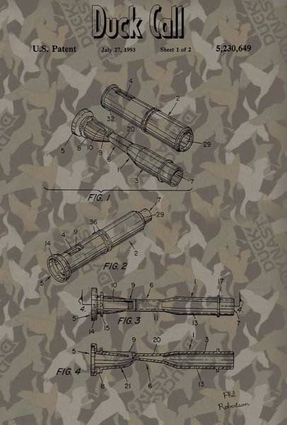 Wall Art - Mixed Media - Duck Dynasty Camouflage Patent by Dan Sproul