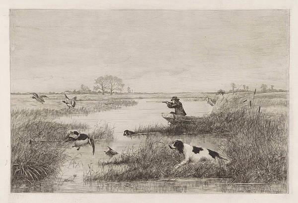 Duck Hunting Drawing - Duck Hunt, Elias Stark by Elias Stark