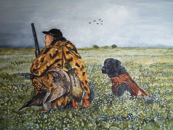 Painting - Duck Hunters by Kathy Laughlin