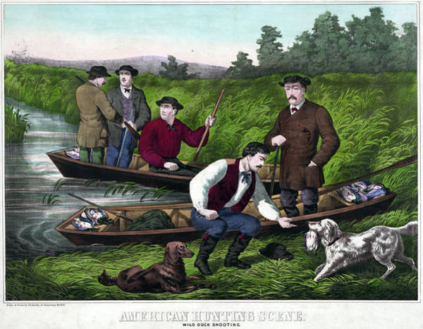 Duck Hunting Drawing - Duck Hunting, C1859 by Granger