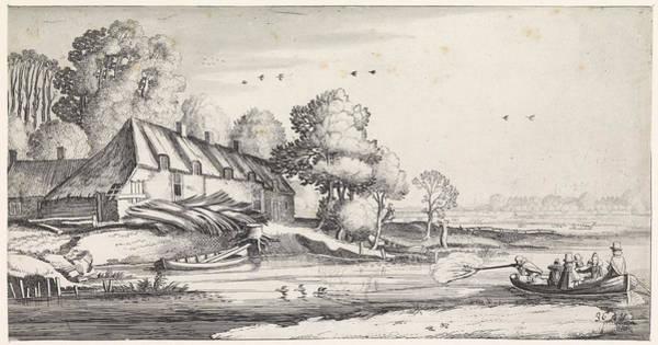 Duck Hunting Drawing - Duck Hunting On A River At A Farm, Jan Van De Velde II by Artokoloro