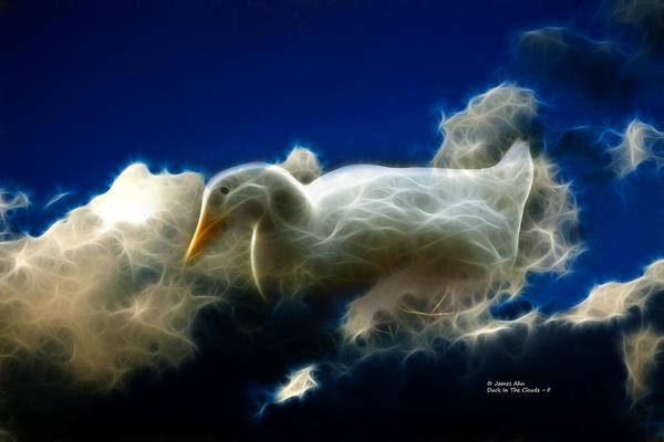 Digital Art - Duck In The Clouds - F by James Ahn