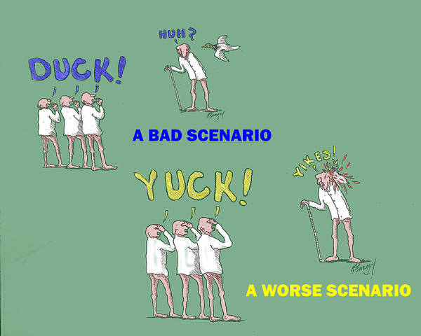 Duck Yuck Art Print