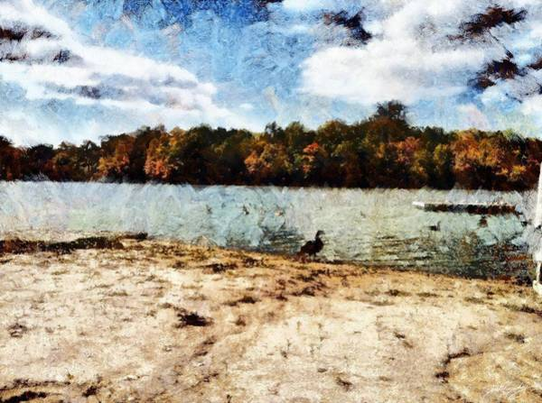 Painting - Ducks At The Beach Again by Derek Gedney