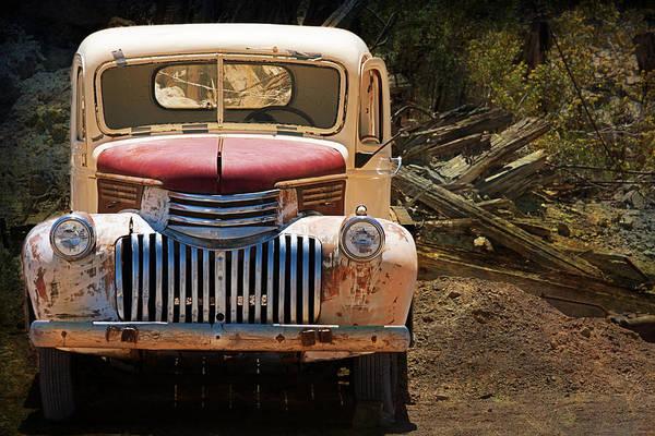 Photograph - Duct Tape Willy's Truck by Gunter Nezhoda