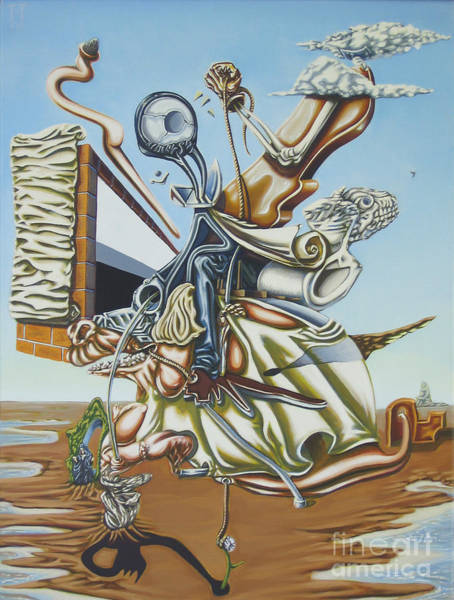 Social Commentary Painting - Due To Rapid Advances In Modern Technology... by Mack Galixtar
