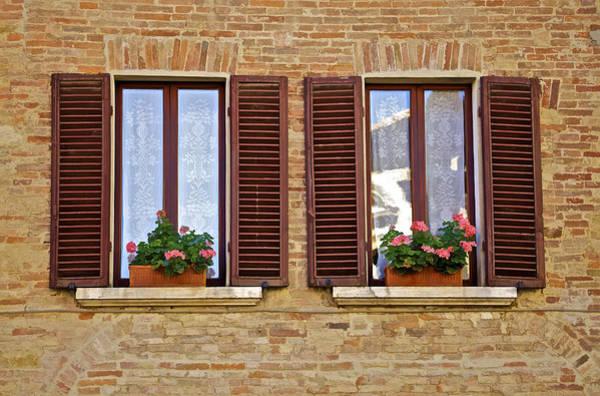 Dueling Windows Of Tuscany Art Print